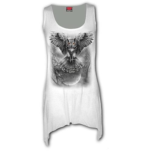 WINGS OF WISDOM - Goth Bottom Vest Dress White (Plain)