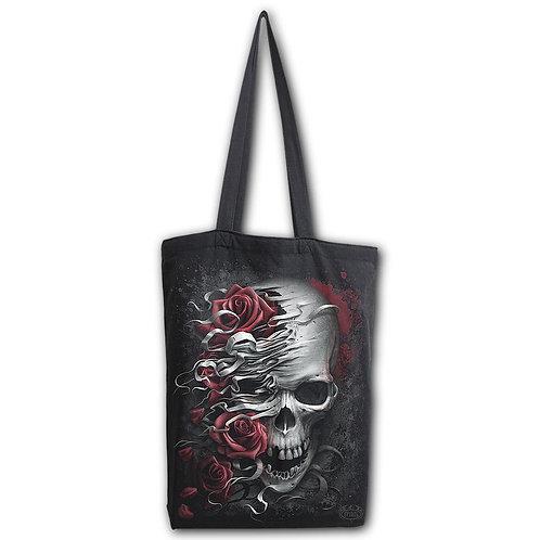 SKULLS N' ROSES - Bag 4 Life - Canvas 80z Long Handle Tote Bag