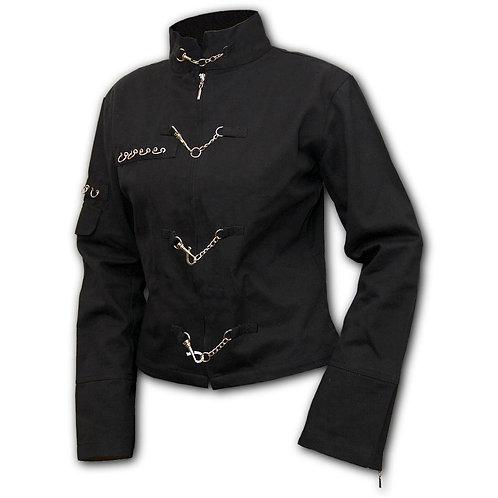 PURE OF HEART - Orient Goth Women Jacket Black (Plain)
