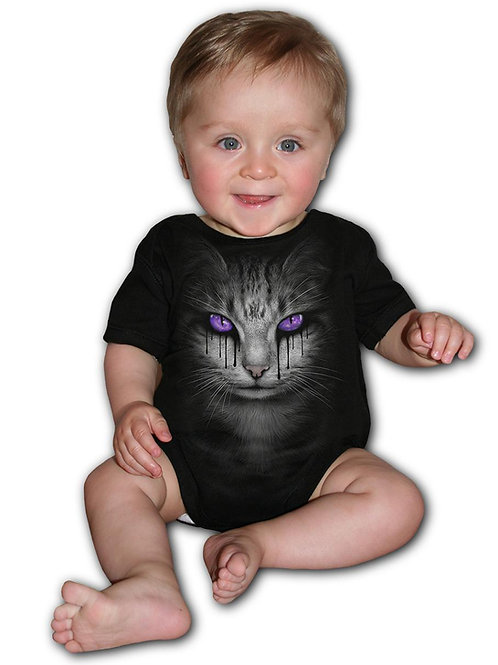 CAT'S TEARS - Baby Sleepsuit Black (Plain)
