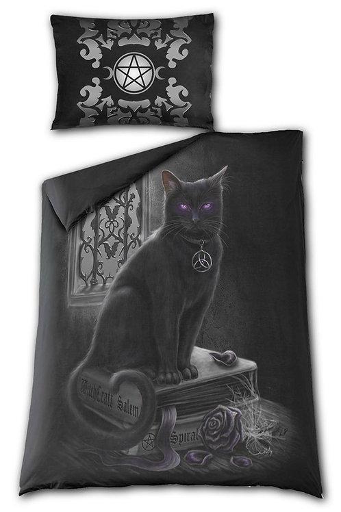 BLACK CAT - Single Duvet Cover + UK And EU Pillow case
