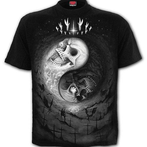 YIN YANG SKULLS - T-Shirt Black