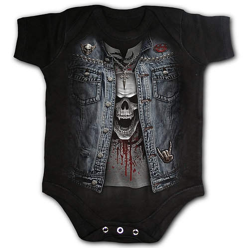 THRASH METAL - Baby Sleepsuit Black (Plain)
