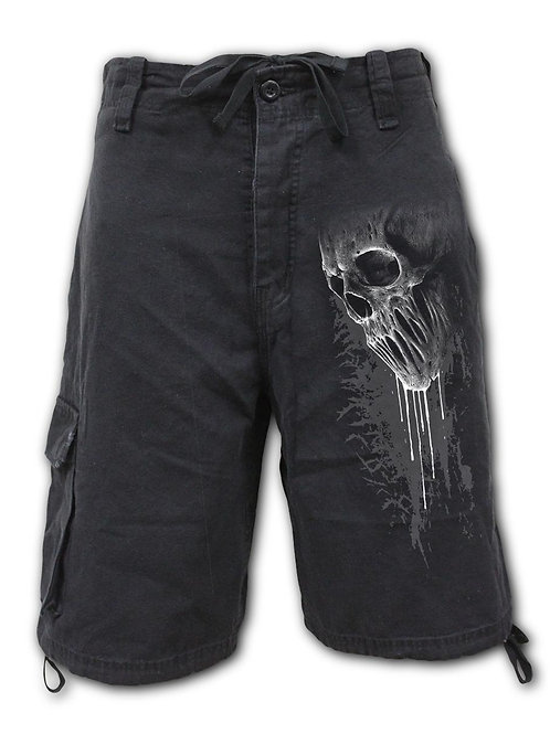 BAT CURSE - Vintage Cargo Shorts Black (Plain)