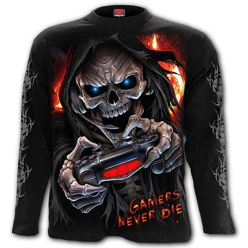 RESPAWN - Longsleeve T-Shirt Black (Plain)