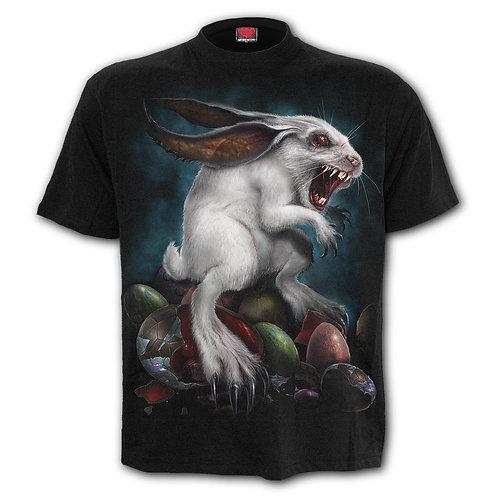 RABBIT HOLE - Front Print T-Shirt Black