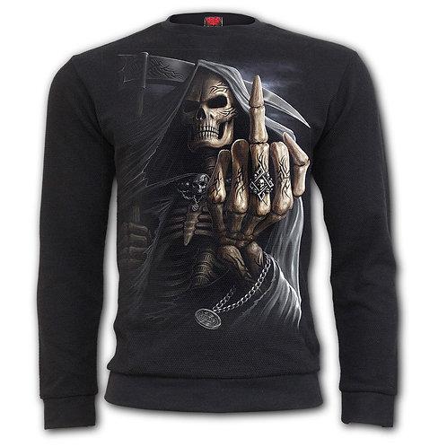 BONE FINGER - Heavy Pique Sweat Shirt  (Plain)