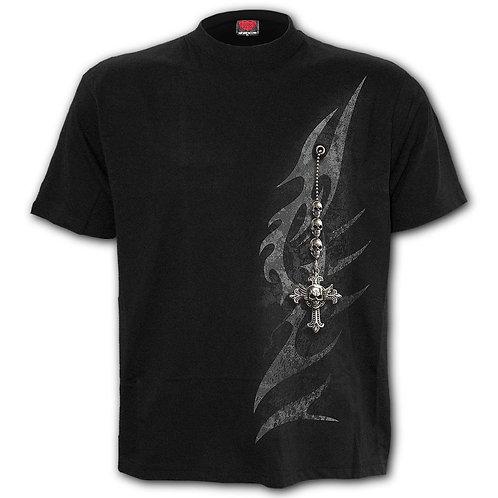 TRIBAL CHAIN - T-Shirt Black