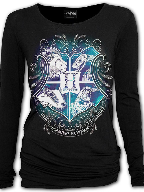 HOGWARTS CREST - Baggy Top Black (Plain)