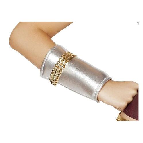 GL104 Wrist Cuffs w/Gold Trim Detail-As Shown