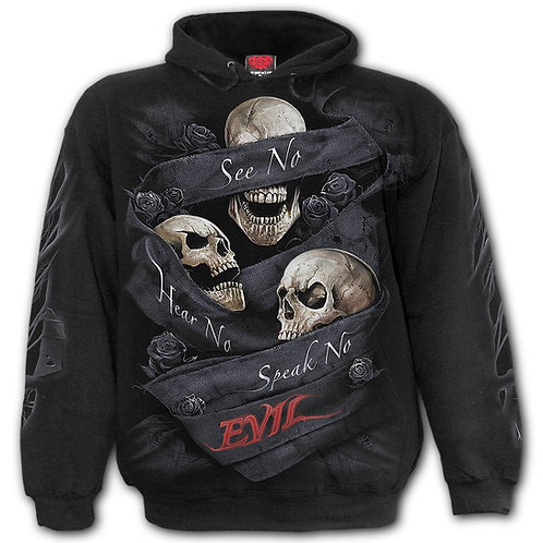 SEE NO EVIL - Hoody Black (Plain)