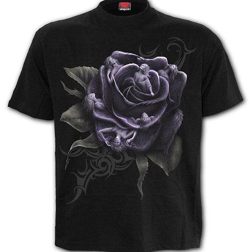 ROSE ANGELS - Front Print T-Shirt Black