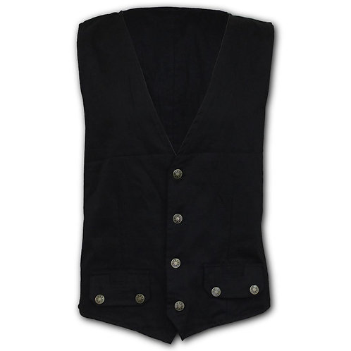 GOTHIC ROCK - Gothic Waistcoat Four Button with Lining (Plain)