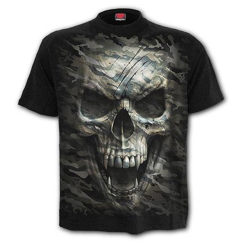 CAMO-SKULL - T-Shirt Black