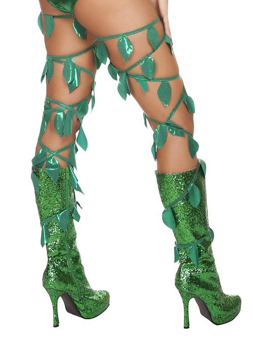4642 - Green Leaf Thigh Wraps