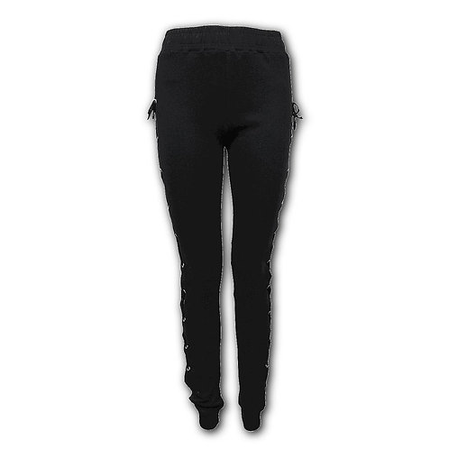 GOTHIC ROCK - High Waisted Side Lace Up Leggings