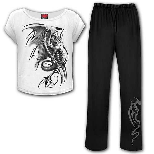 WYVERN - 4pc Gothic Pyjama Set (Plain)