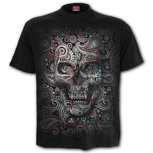 SKULL ILLUSION - Front Print T-Shirt Black