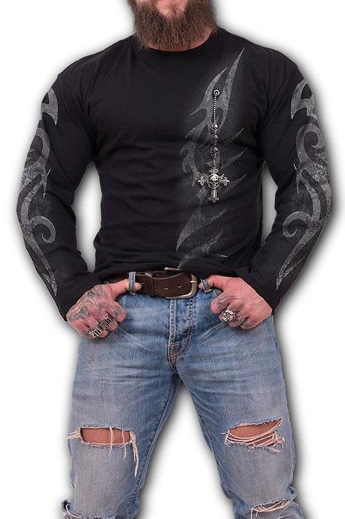 TRIBAL CHAIN - Longsleeve T-Shirt Black