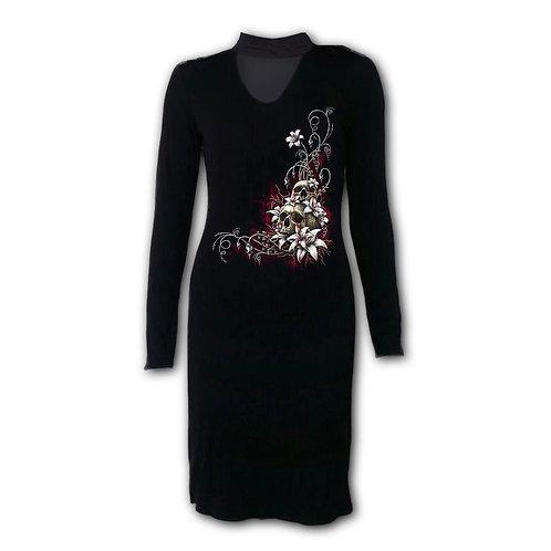 BLOOD TEARS - Neck Band Elegant Dress (Plain)