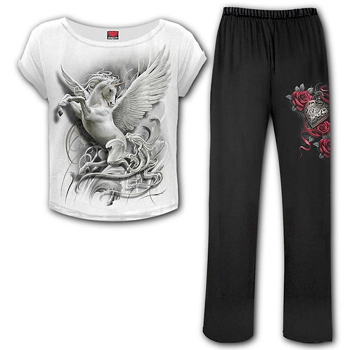 PURITY - 4pc Gothic Pyjama Set (Plain)