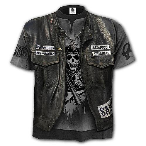 JAX WRAP - Allover T-Shirt Black