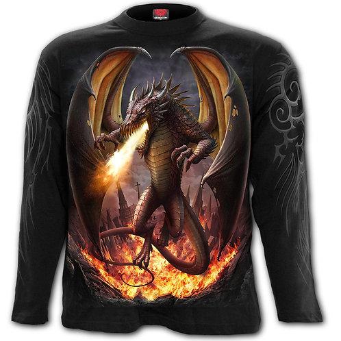 DRACO UNLEASHED - Longsleeve T-Shirt Black