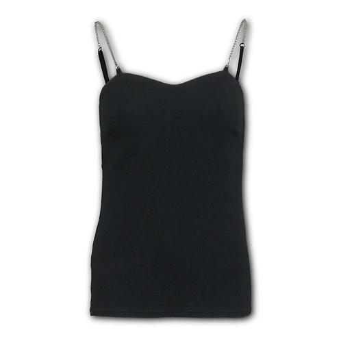 GOTHIC ROCK - Adjustable Chain Camisole Top Black (Plain)