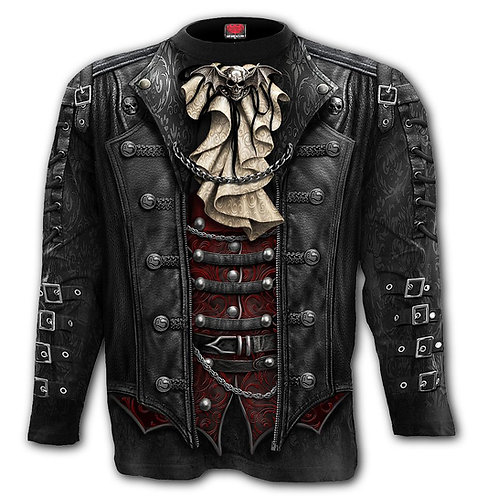 GOTH WRAP - Allover Longsleeve T-Shirt Black