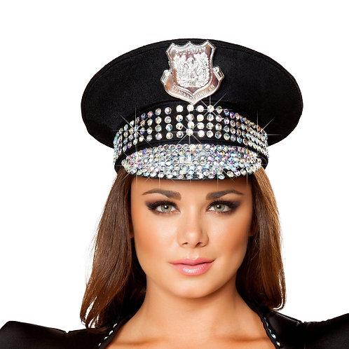 H4396 Studded Police Hat