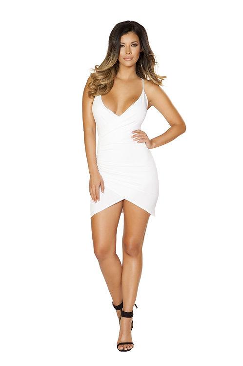 3514 - White - Spaghetti Strap Dress