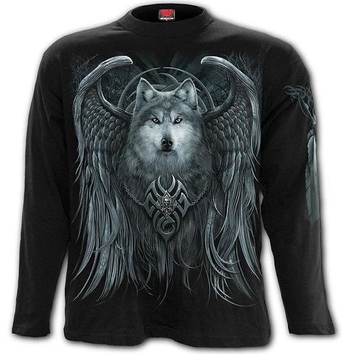 WOLF SPIRIT - Longsleeve T-Shirt Black