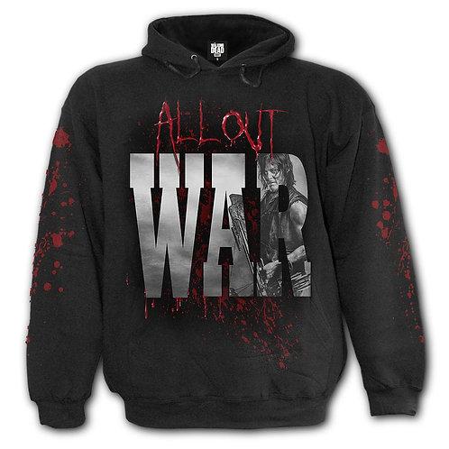 ALL OUT WAR - Hoody Black (Plain)
