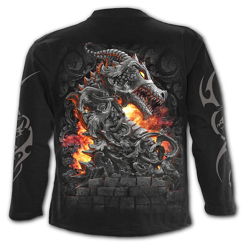 KEEPER OF THE FORTRESS - Longsleeve T-Shirt Black