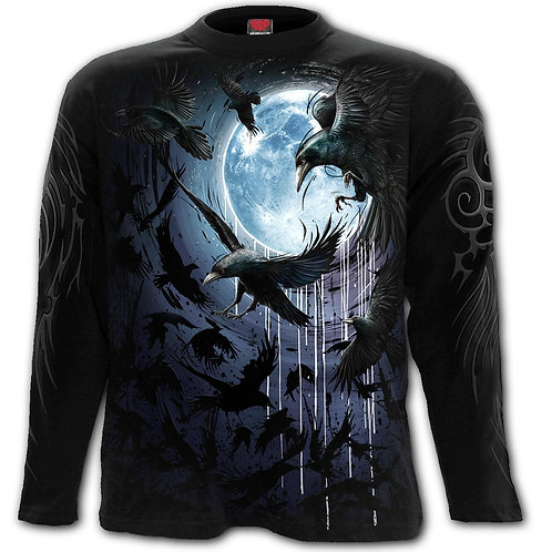 CROW MOON - Longsleeve T-Shirt Black