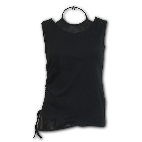 GOTHIC ROCK - 2in1 PU Leather Vest (Plain)