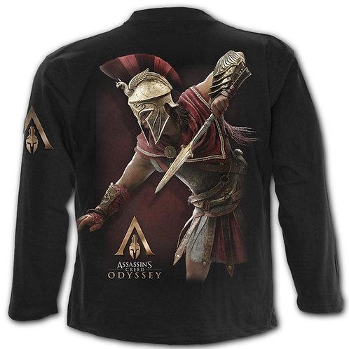 ODYSSEY ALEXIOS ARMOUR - Longsleeve T-Shirt Black