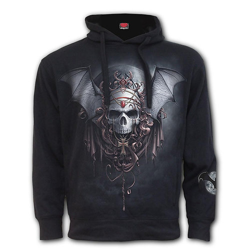 GOTH NIGHTS - Side Pocket Stitched Hoody Black (Plain)