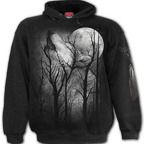 FOREST WOLF - Hoody Black (Plain)