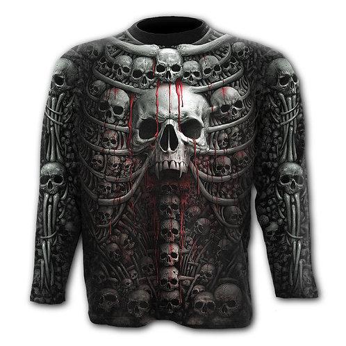 DEATH RIBS - Allover Longsleeve T-Shirt Black