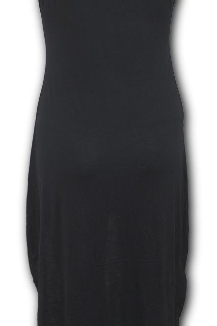 SWEET DREAMS - Gothic High-Low Hem Dress Black (Plain)