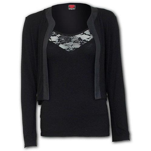 GOTHIC ELEGANCE - 2in1 Lace Vest Cardigan  (Plain)