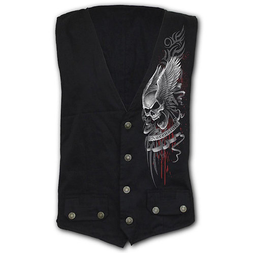 ASCENSION - Gothic Waistcoat Four Button with Lining (Plain)