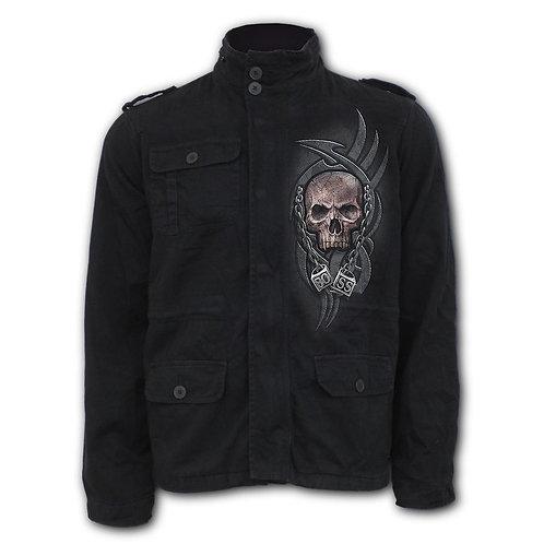 BOSS REAPER - Military Lined Jacket with Hidden Hood (Plain)