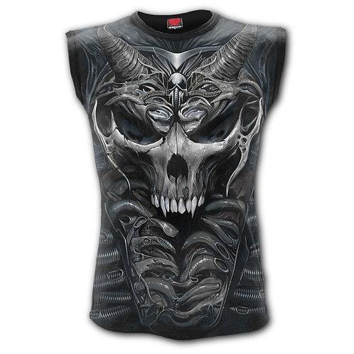 SKULL ARMOUR - Allover Sleeveless T-Shirt Black