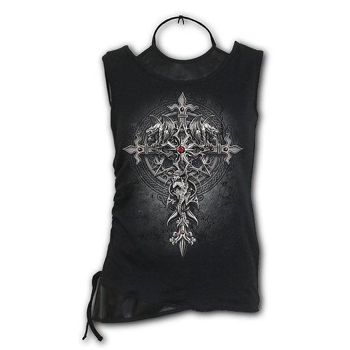 CUSTODIAN - 2in1 PU Leather Vest (Plain)