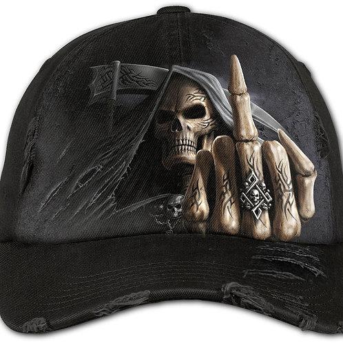 BONE FINGER - Baseball Caps Ditressed with Metal Clasp