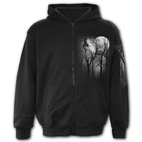 FOREST WOLF - Full Zip Hoody Black (Plain)