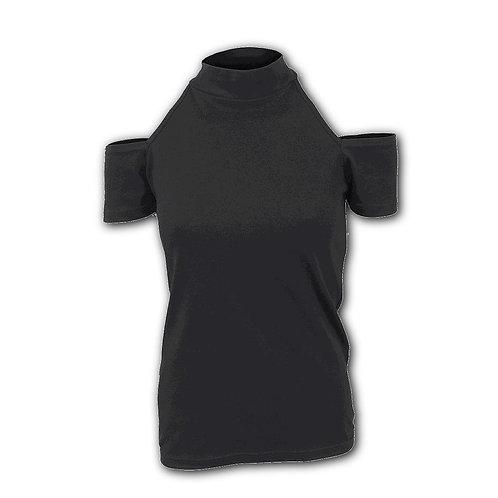 GOTHIC ELEGANCE - Halter Neck Drop Shoulder Top