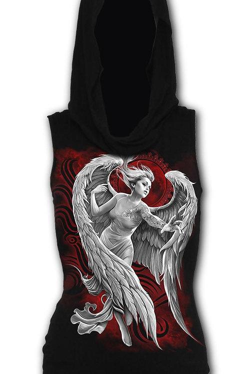ANGEL DESPAIR - Sleeveless Gothic Hood Black (Plain)